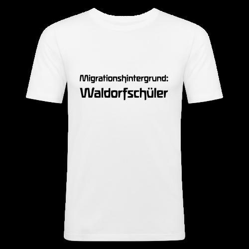 Migrationshintergrund: Waldorfschüler - Männer Slim Fit T-Shirt