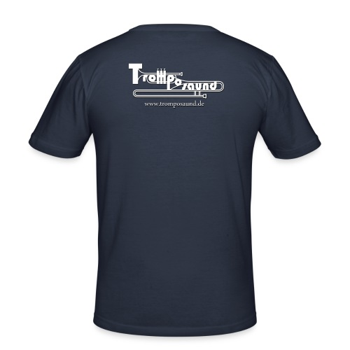 Herz Shirt - original Tromposaund! - Männer Slim Fit T-Shirt