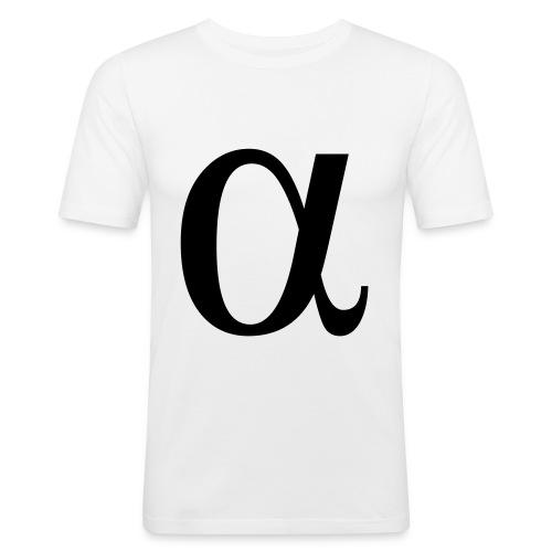 Moustache Logo - Men's Slim Fit T-Shirt