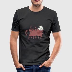 Fours monkeys and one legend - Tee shirt près du corps Homme