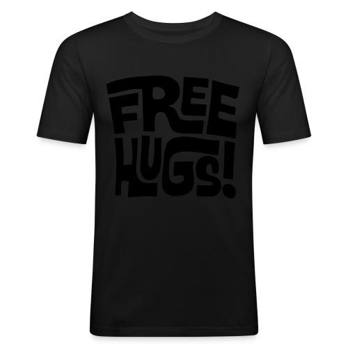 Wacfoam Heren T-shirt Free HUGS - slim fit T-shirt