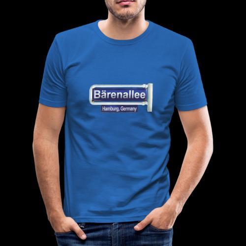 Hamburg, Bärenallee, altes Schild - Männer Slim Fit T-Shirt