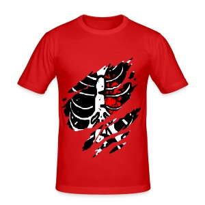 T shirt homme squelette - Tee shirt près du corps Homme