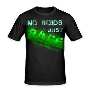 No Roids- Green Tshirt - Men's Slim Fit T-Shirt