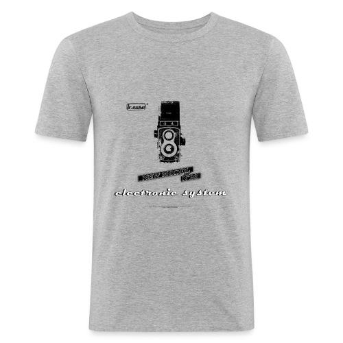 Homme pub appareil photo - T-shirt près du corps Homme