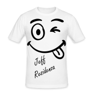 T-shirts ~ slim fit T-shirt ~ Men Slimfit: Jeff Residenza - Just kidding Smiley