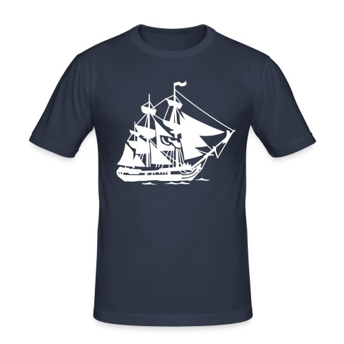 Matrosen Schiff - Männer Slim Fit T-Shirt