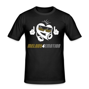 Männer Slim Fit T-Shirt - gold/silver glitter