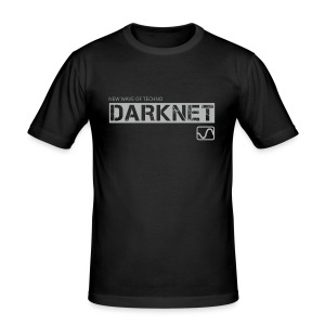 Darknet Label T-Shirt (Black) - Men's Slim Fit T-Shirt