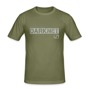 Darknet Label T-Shirt (Brown) - Men's Slim Fit T-Shirt