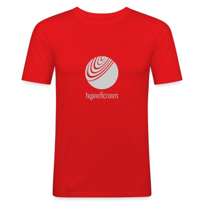 Hypnotic Room - Light Grey logo on Red