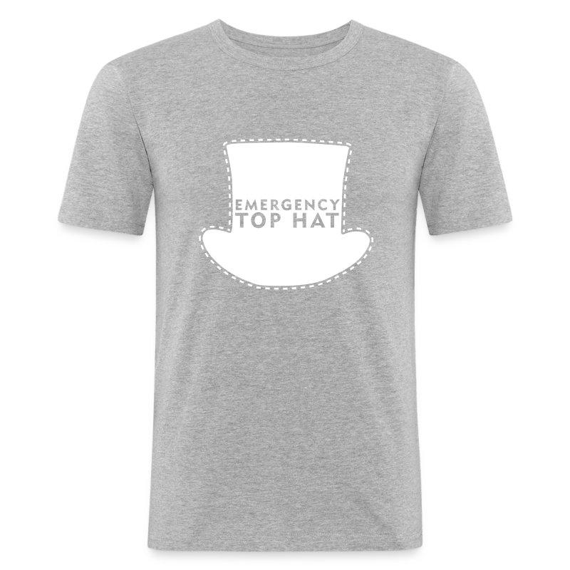 40a22d02e EMERGENCY TOP HAT Men's Slim Fit T-Shirt - heather grey