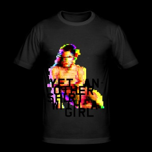 Shirt with a Girl - Men's Slim Fit T-Shirt