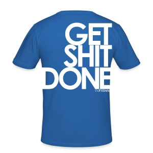 Get Shit Done - White - Men's Slim Fit T-Shirt
