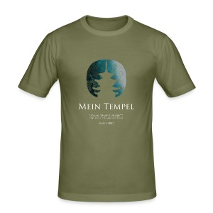 Mein Tempel - Urban Temple Project - Männer Slim Fit T-Shirt