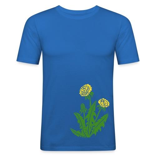 t-shirt löwenzahn dandy lion pusteblume butterblume natur blume - Männer Slim Fit T-Shirt