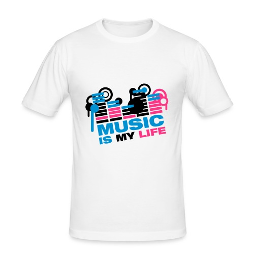 Music Is My Life - T-shirt près du corps Homme