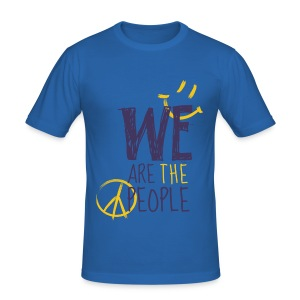 Peace Smiley dark - Men (Slim Fit) - Männer Slim Fit T-Shirt