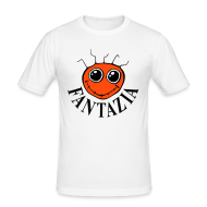 T-Shirts ~ Men's Slim Fit T-Shirt ~ Fantazia Red Smiley Face T-shirt