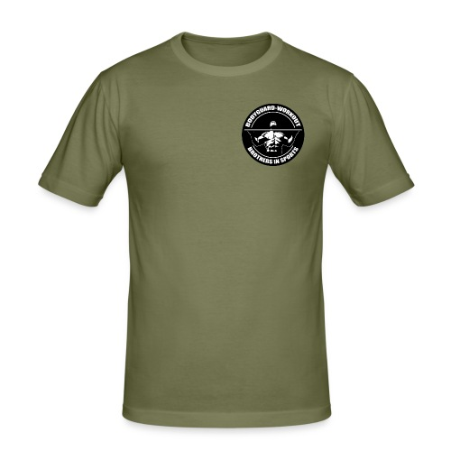 slim fit shirt with frontprint - olive - Men's Slim Fit T-Shirt