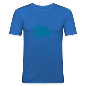 tier t-shirt meeres schildkröte sea turtle schildi meeresschildkröte tauchen taucher scuba diving - Männer Slim Fit T-Shirt