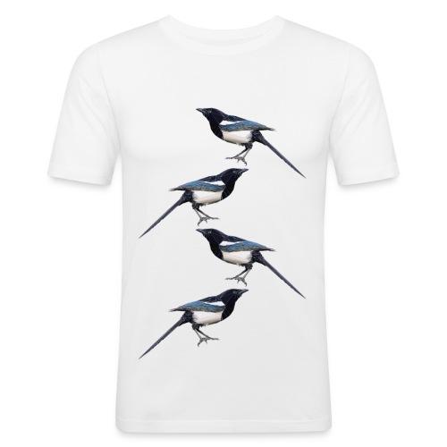 Flat & Paper Magpie t-shirt - Men's Slim Fit T-Shirt