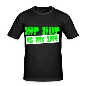 T shirt homme hip hop is my life - Tee shirt près du corps Homme