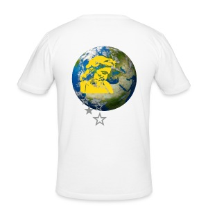 JESUS AND EARTH - Männer Slim Fit T-Shirt