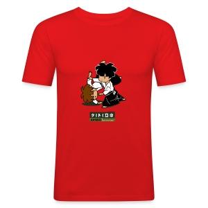t-shirt aikido männer - Männer Slim Fit T-Shirt