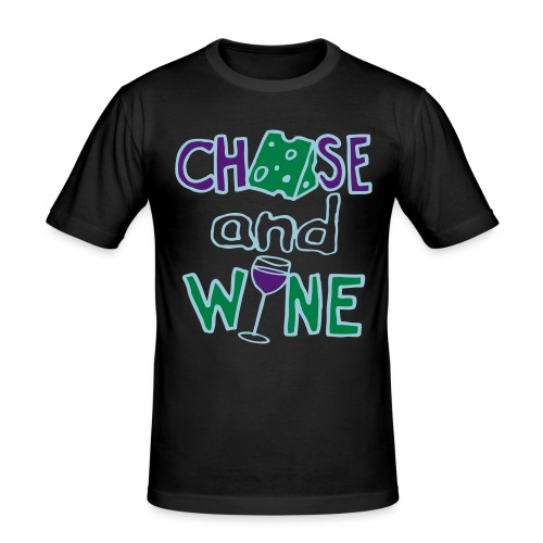 Cheese and Wine (Gentleman's Double-dip Recession-Proof Edition) - Men's Slim Fit T-Shirt