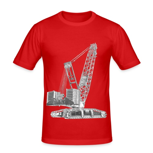 Crawler Crane 750t - Men's Slim Fit T-Shirt