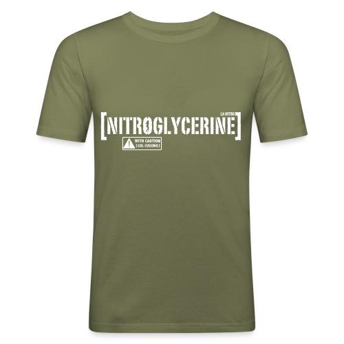 Maglietta Nitroglycerine (Detta LA NITRO) tratta da POMPIERI 2 (SCRITTA BIANCA - MAGLIETTA TUTTI I COLORI) - Maglietta aderente da uomo