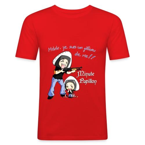 Mini-Kriss - Gateau de Riz 2 - T-shirt près du corps Homme