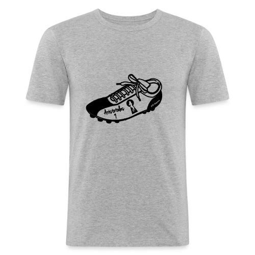Scarpa da calcio autografata da Aristoteles (SCRITTA NERA - MAGLIETTA TUTTI I COLORI) - Maglietta aderente da uomo