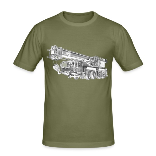 Mobile Crane 4-axle - Men's Slim Fit T-Shirt