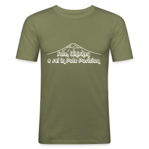 Sole, Whiskey e sei in Pole Position  (SCRITTA BIANCA - MAGLIETTA TUTTI I COLORI) - Maglietta aderente da uomo