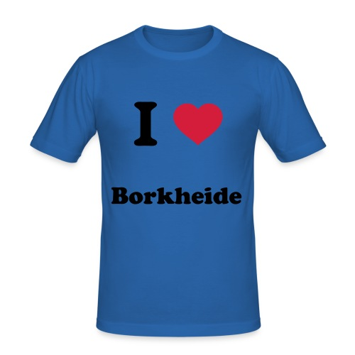 Herren T-shirt I love Borkheide - Männer Slim Fit T-Shirt