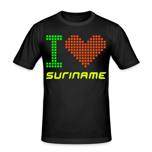 I 'hartje' Suriname Neon - slim fit T-shirt