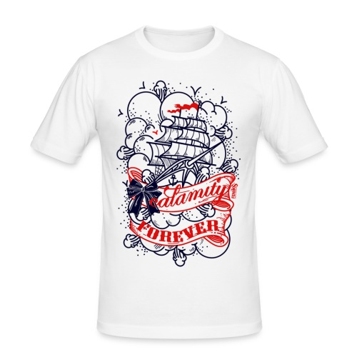 tee shirt près du corps marin - T-shirt près du corps Homme