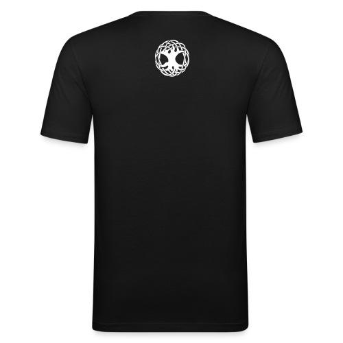 T Shirt mit Yggdrasil / Weltenbaum in schwarz - Männer Slim Fit T-Shirt