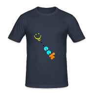 Tee shirts ~ Tee shirt près du corps Homme ~ Smiley geek