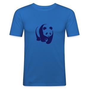 tier t-shirt panda teddy bär bärchen süß niedlich gesicht - Männer Slim Fit T-Shirt