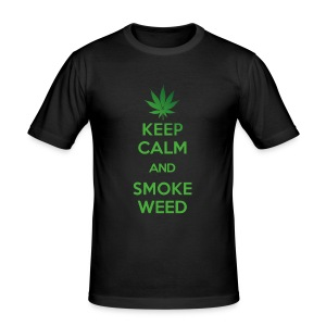 KEEP CALM AND SMOKE WEED (old Style) T-Shirts - Männer Slim Fit T-Shirt