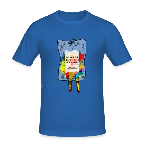 colorful life - Männer Slim Fit T-Shirt