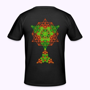 Equilibrium UV-Neon 2-Side Print - Slim-Fit - slim fit T-shirt
