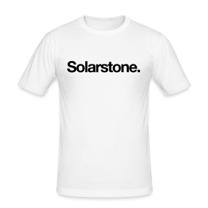 Solarstone [Male] Black on White - Men's Slim Fit T-Shirt