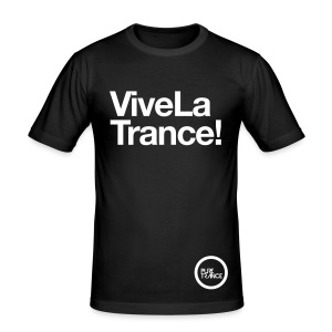 Vive La Trance! [Male] White on Black - Men's Slim Fit T-Shirt