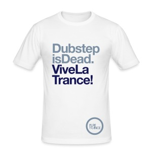 Dubstep Is Dead... [Male] Metallic / Navy Blue - Men's Slim Fit T-Shirt