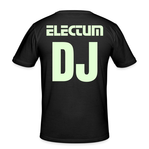 ELECTUM DJ BACK (M) - Men's Slim Fit T-Shirt