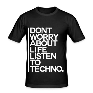 Slim-Fit Shirt Listen to Techno #2 - Männer Slim Fit T-Shirt